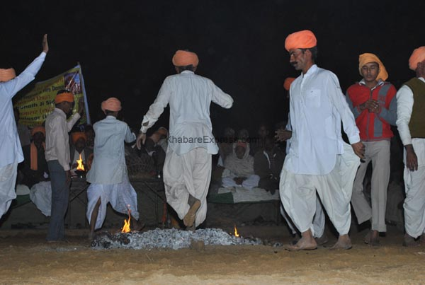 Fire Dance by Siddh Community during ending ceremoney of Camel Festival 2011