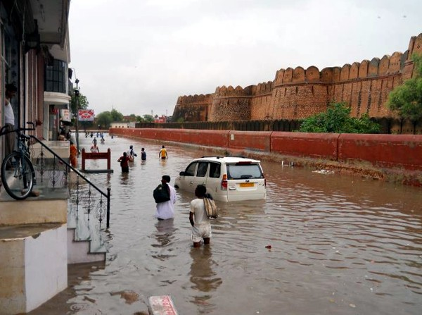 Images during Rainfall in city