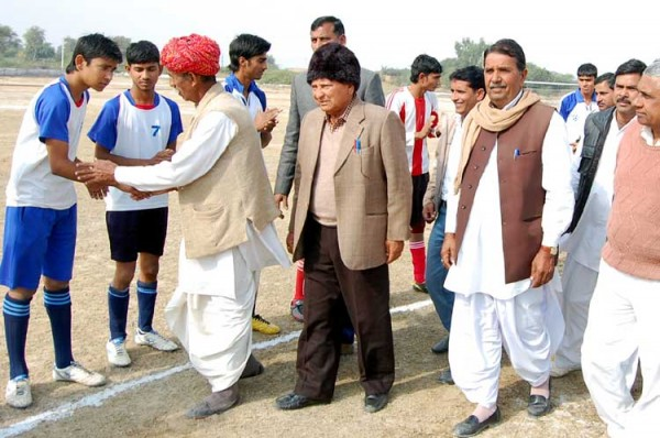Late Bhimsen Chaudhary Memorial Football began in Kalu Village