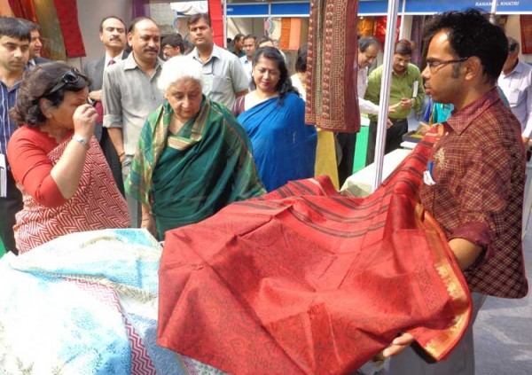 Chandresh Kumari at Color of Rajasthan Handicraft Exhibition held at Delhi