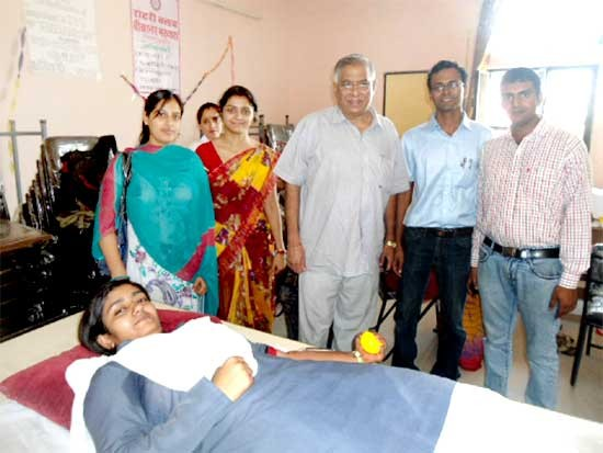 Blood Donation Camp held at CET College Bikaner 111 Unit Collected