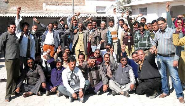 Postal Service employees on strike in Bikaner