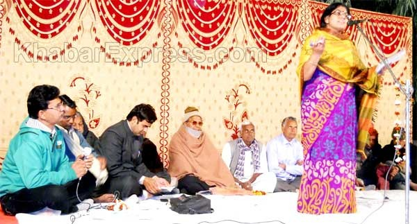 Poet Babulal Chhangani at Kavi Sammelan held at Gajner, Bikaner