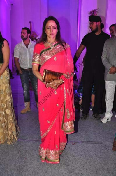 Hema Malini At Devhooti & Vikas Purohit reception