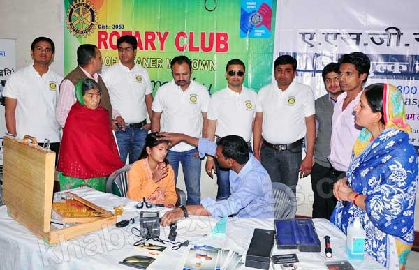 107 patients benefited in Free Eye check Camp held by Rotary Midtown Bikaner