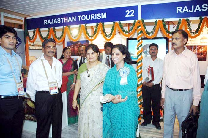 The State Minister for Tourism of Rajasthan  Mrs Usha Punia with IATO president Subhash Goyal at the