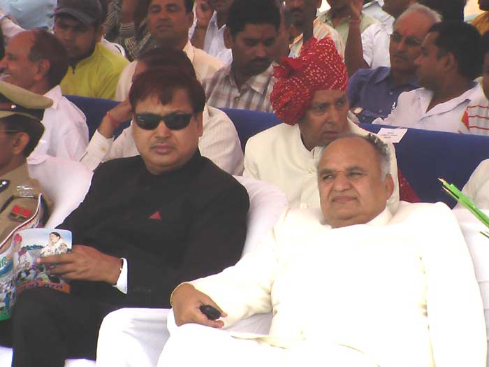 Opposition Leaders & Parshad at Dr. Karni Singh Stadium on the occasion of 60th Independence Day