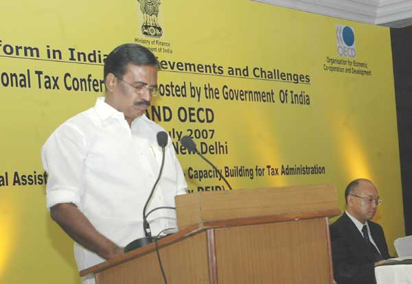 The Minister of State for Finance, Shri S.S. Palanimanickam, addressing at the valedictory function