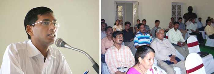 Addressing collector Neeraj K. Pawan
