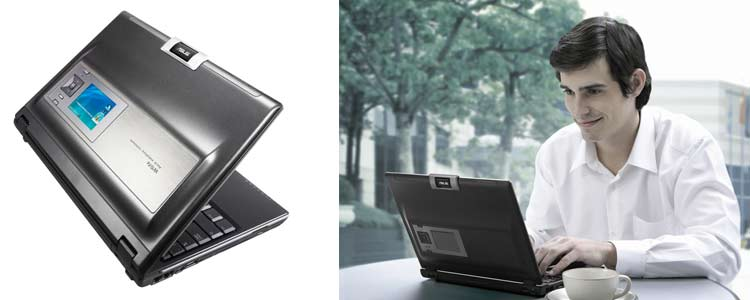 ASUS W5Fe - World's First SideShow Notebook is now available in India