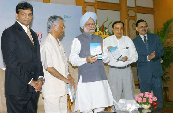 The Prime Minister, Dr. Manmohan Singh releasing a book �The Indian CEO: A Portrait of Excellence� i