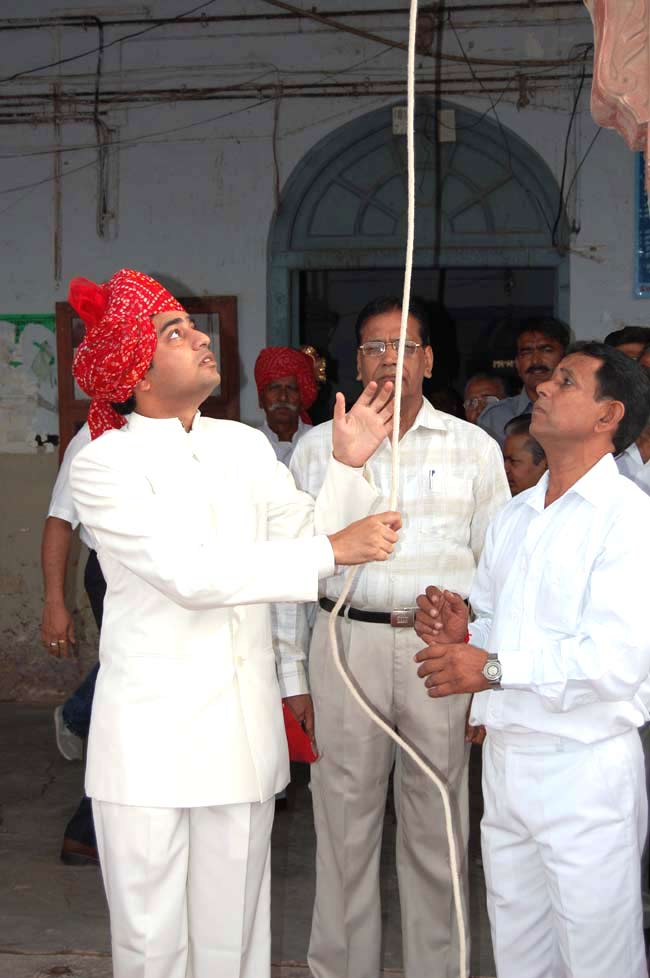 Hoisting of flag by Alok Gupta in Collectrate office.