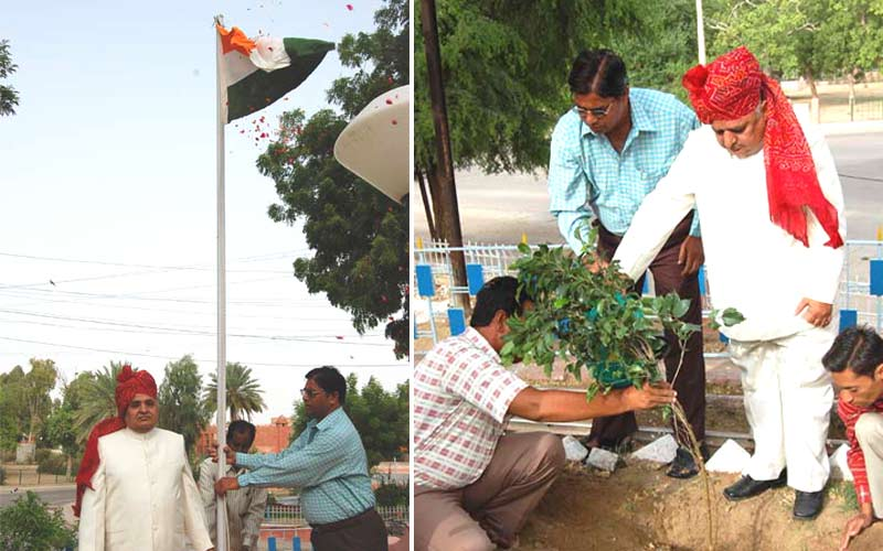 Hoisting of flag and plantation by UIT chairman Shri Gopal Agrawal.