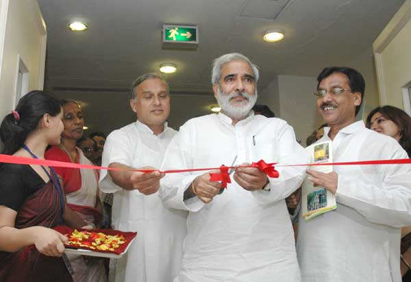 The Union Minister for Rural Development, Dr. Raghuvansh Prasad Singh inaugurating the Exhibition on