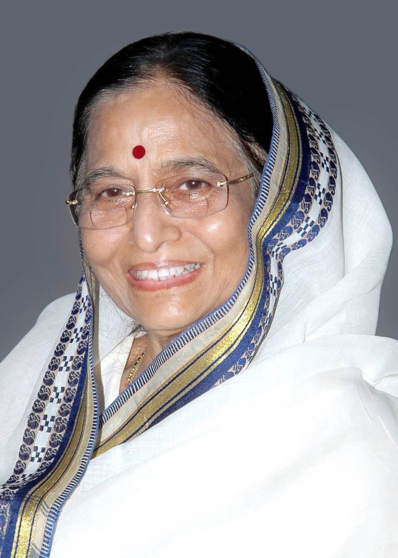 The President of India, Smt. Pratibha Patil.