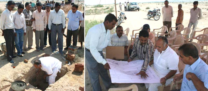 Land Inaugaration and Map Inspection by UIT chairman Shri Gopal Agrawal