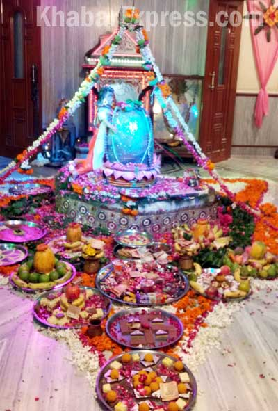 Special Pooja offered to Lord shiva at Amreshwar Mahadev Temple Bikaner