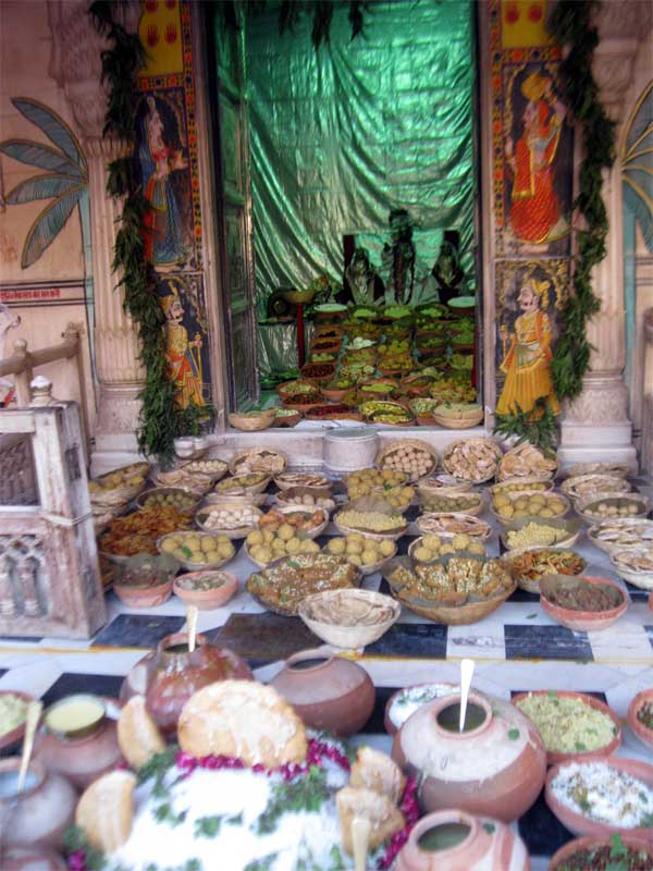 Fifty Six Food Variety offering to Loard Krishna