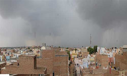 Bikaner faces clouds all over day with rain in afternoon