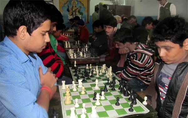 Plyaers during Rangeela Memorial chess tournaments