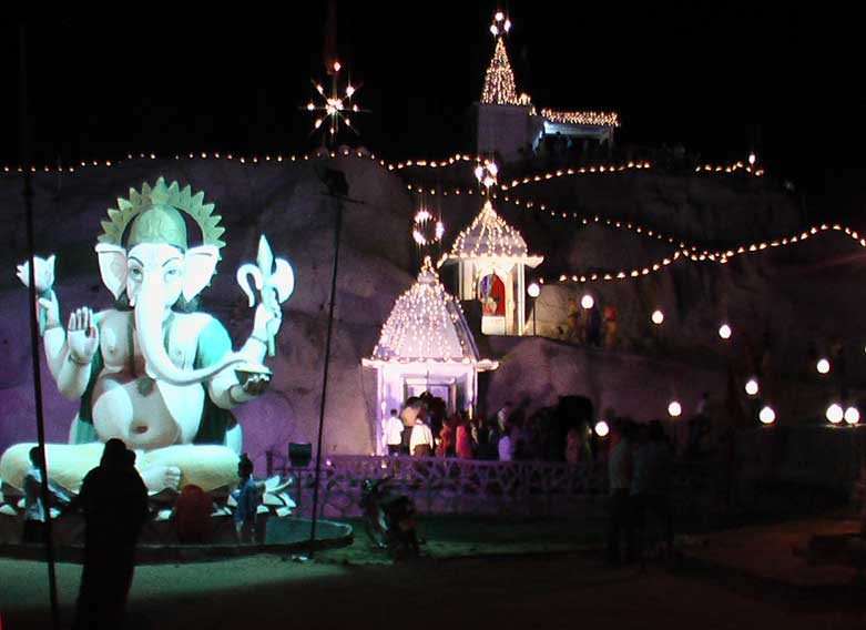 Perspective Scene of Mata Vaishno Devi Dham Situated in Jaipur Road at Bikaner