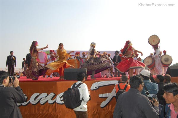 Tradition Rajasthani Youth enjoying the cultural programme at Ladera
