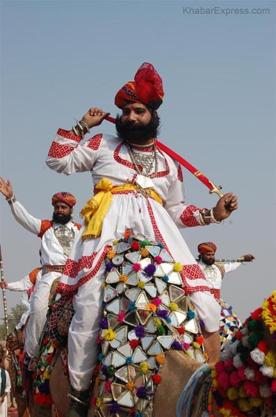 Artist performing in Camel Festival 2009 at Karni Singh Stadium Bikaner