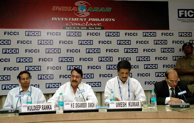 Dr Digambar singh in Indo -Arab Countries Investment Submit at FICCI auditorium