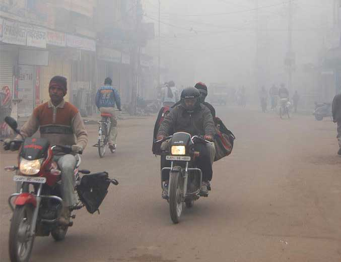 Fog can be seen everywhere in north India. An image of fog in Bikaner city