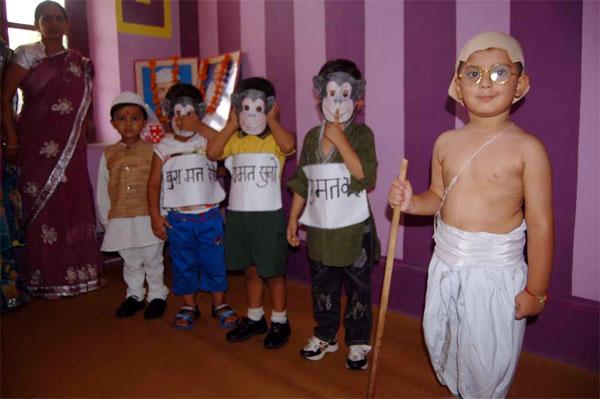 Gandhi Jayanti celebrated at We Kids, Play School, Bikaner