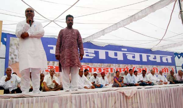 Gopal Gahlot addresses during  in OBC Mahapanchayat