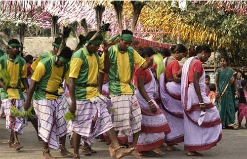 Tribals celebrating their festival ~ Baha Utsav