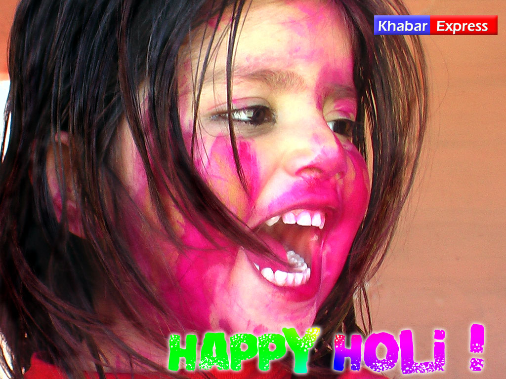 Happy Holi - Wishing Indian Kid