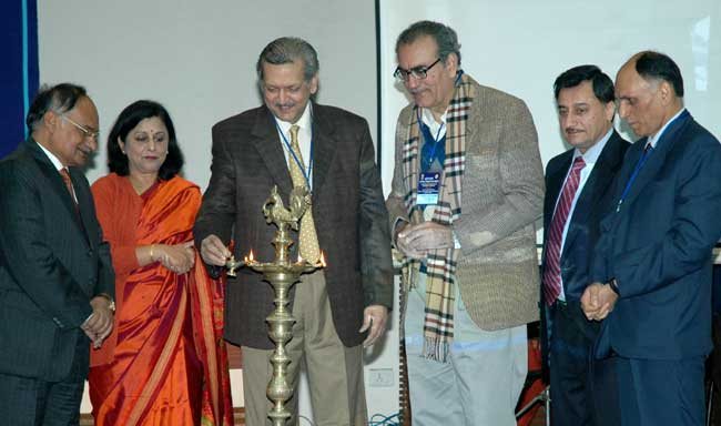 The Secretary, Department of Consumer Affairs, Shri Yashwant Bhave lighting the lamp at the celebrat