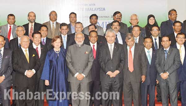 Indian Prime Minister with Corporate delegates of Malaysia