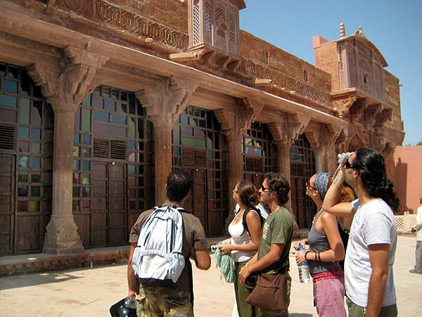 Foreign Tourists visiting Meera Museum on First day of its opening at Merta City