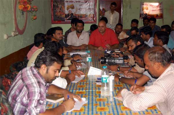 Maru pardesh nirman morcha leader jaiveer godara Press Conference