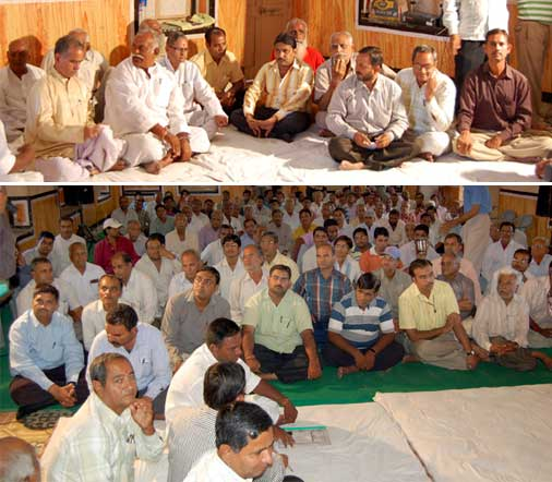 A meeting for the Pushkarana Sawa held at Ojha Satsangh Bhawan- Bikaner