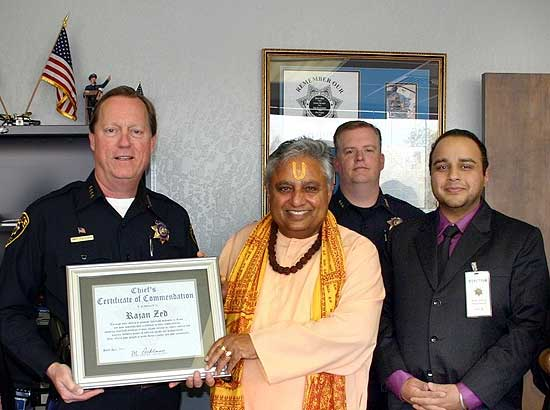 Zed awarded �Certificate of Commendation� by police chief for �excellence in civic responsibility�