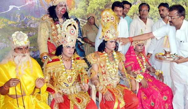 Rajtilak to Rama during religious event held  at Ram Temple Churu