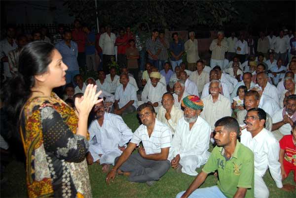 MLA Siddhi Kumari addressing during a Shrimali Community Event