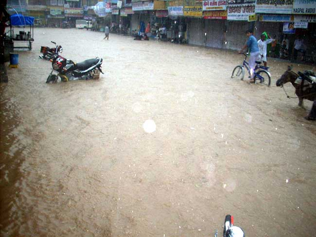 Heavy Rainfall at Suratgarh