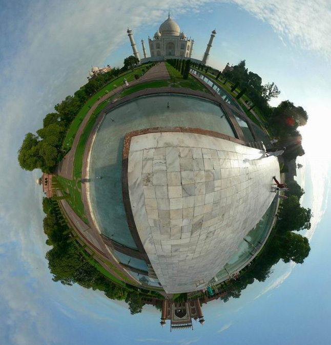 Taj Mahal View on 360 Degree