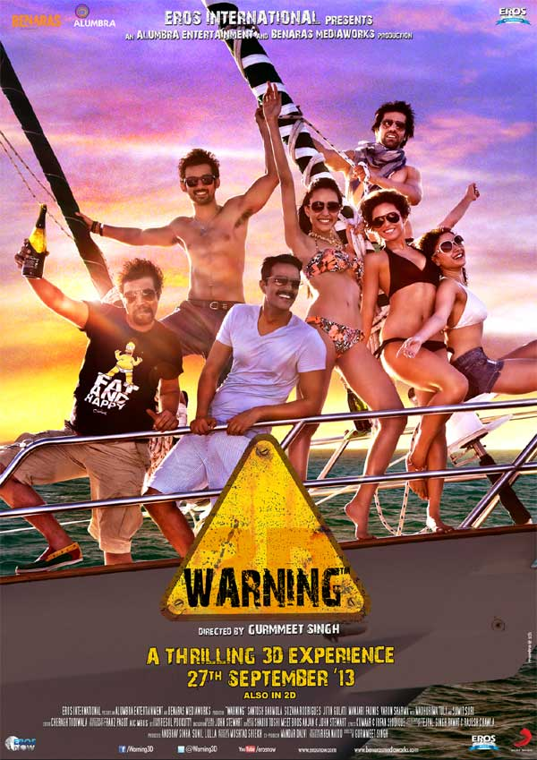 """poster for  upcoming film"""" Warning""""."""
