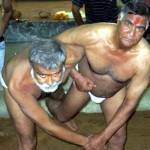 Traditional Wrestling Kusti held at Maruti Vyayam Mandir