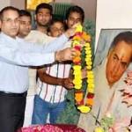 Tribute paid to Late Rajiv Gandhi on his Brithday at Hotel Babu Heritage, Bikaner
