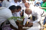 IAS Rohit R Brandon and S S Bissa Planting a Tree at Gyan Prakarti Udhyan, Jaipur