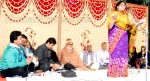 Smt Manisha present a poem at Kavi Sammelan held at Gajner, Bikaner