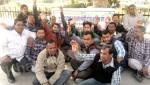 NAREGA employees on Dharna