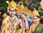Lord Shri Ram, Sita, Laxman and Lord Hanumaan